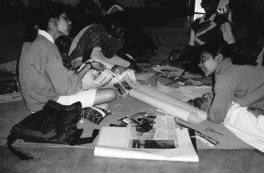 Ausstellung in der Herrschinger Grund- und Hauptschule