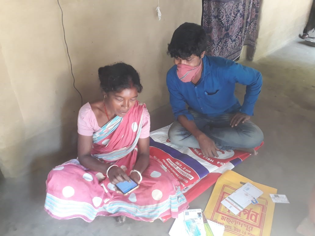 Linking woman with Govt. schemes via mobile phone